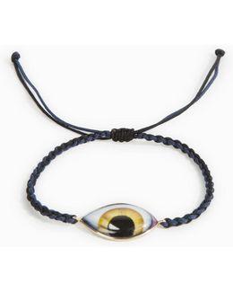 Yellow Enamel Eye Bracelet
