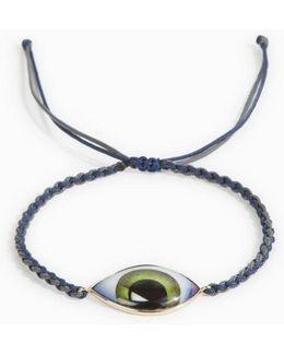 Green Enamel Eye Bracelet