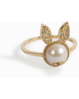 Pearl Rabbit Ring