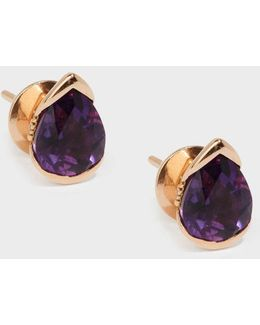 Bloom 18-karat Rose Gold Diamond And Amethyst Earrings