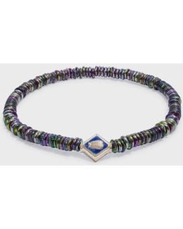 Scarab Lozenge Beaded Bracelet