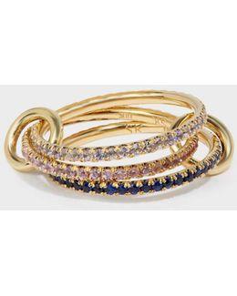 Aurora 18-karat Gold Sapphire And Tanzanite Ring