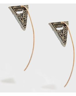 In The Zone Rose Gold-plated Crystal Earrings