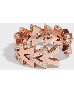 Camden Rose Gold-plated Crystal Ring