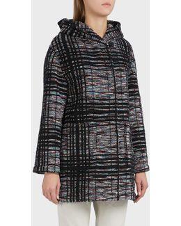 Hooded Plaid Coat