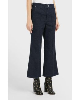 Parsley Flared Cotton-blend Jeans