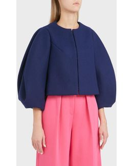 Voluminous Sleeve Virgin Wool Jacket