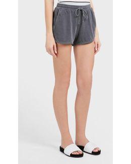 Sporty Drawstring Cotton Shorts