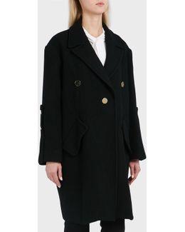 Janice Three-button Wool-blend Coat