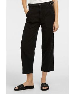 Kendall Cropped Cotton Wide-leg Trousers