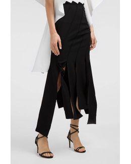Lauren Panelled Crepe Skirt