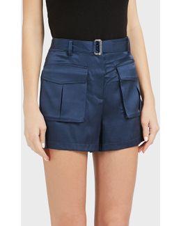 Safari High-waisted Satin Shorts