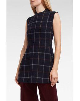 Plaid Wool-blend Tunic