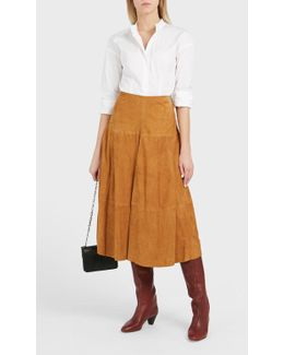 Remi A-line Suede Skirt