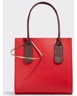 Weekend Mini Two-tone Textured-leather Tote