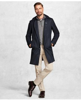 Golden Fleece® Brookstechtm Navy Check Trench Coat