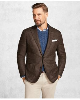 Golden Fleece® Brown Textured Solid Sport Coat