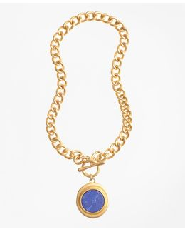 Gold-plated Toggle Pendant Necklace