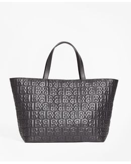 """bb"" Quilted Leather Tote Bag"