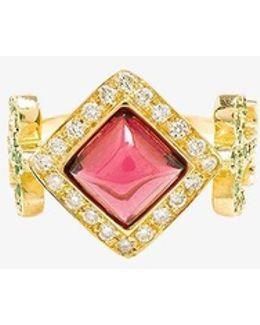 18k Yellow Gold Domi Rosa Ring