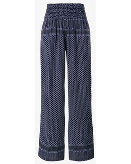 Keffiyeh Printed Cotton Trousers