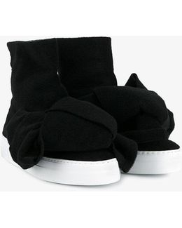 Bow Embellished Hi-top Sneakers