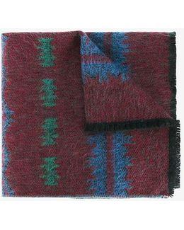 Garavani Jacquard Wool-cashmere Scarf