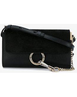Black Suede Faye Wallet Bag
