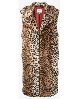 Sleeveless Faux Fur Coat