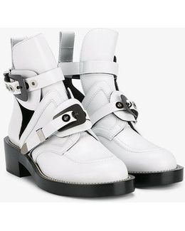- 'apron' Boots - Women - Leather/metal - 36