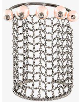 Pearl Chain Cuff Bracelet