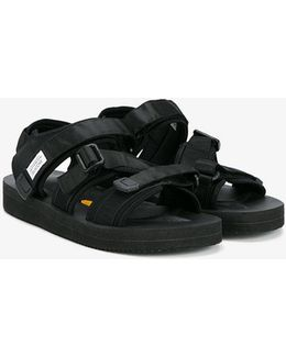 Kisee-v Webbing And Neoprene Sandals
