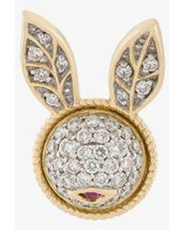Diamond Bunny Stud Earring