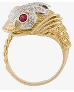 Diamond And Ruby Fish Ring