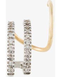 Bess Blanc Twirl Earring