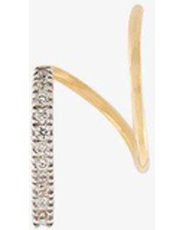 Bela Blanc Twirl Earring