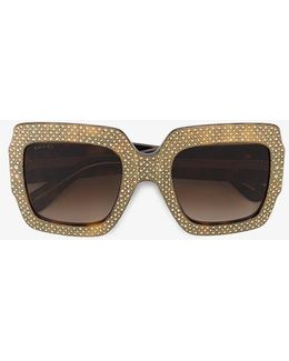 Rhinestone Embellished Sunglasses