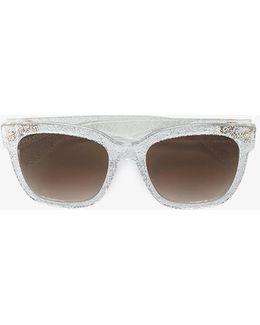 Glitter Cat-eye Sunglasses