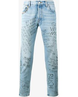 Punk Printed Jeans