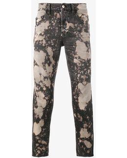 Acid Washed Slim-fit Jeans