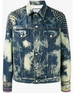 Washed Studded Denim Jacket