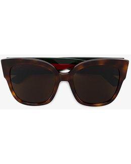Tortoiseshell Sunglasses With Monogram Detailing