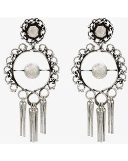 Hoop Earrings With Tassels