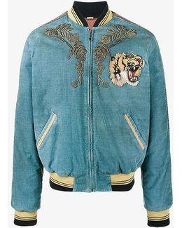 Loved Embroidered Bomber Jacket