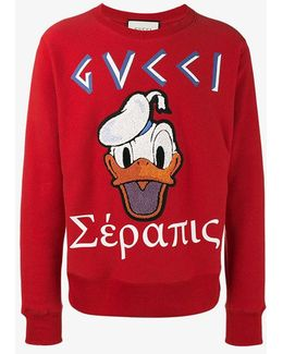 Donald Duck Applique Sweatshirt