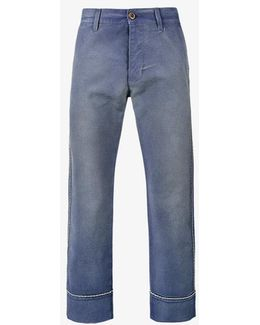 Cropped Work Trousers