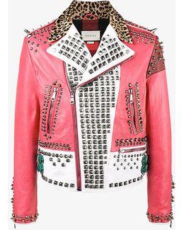 Block Panel Studded Jacket