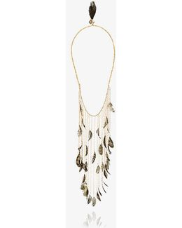 Selva Long Feather Necklace