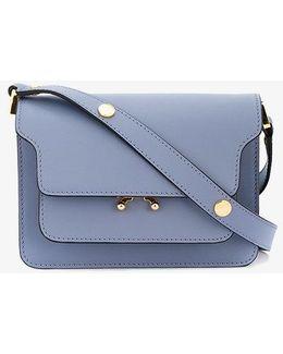 Blue Mini Trunk Shoulder Bag