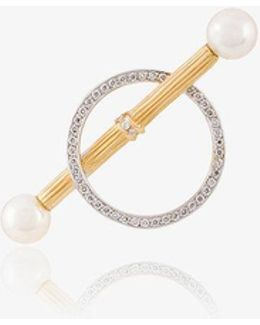 Circle Bar Stud Earrings